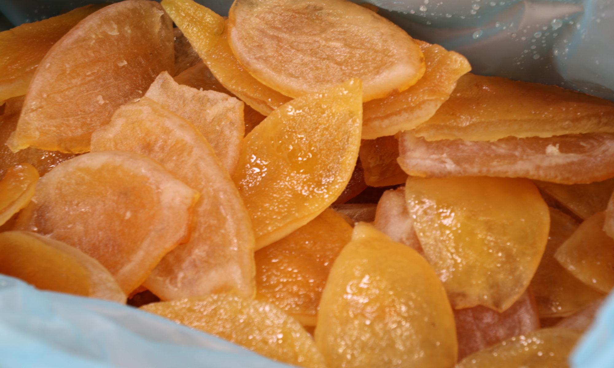 Orange écorce